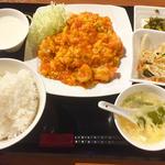 海老のチリソース定食