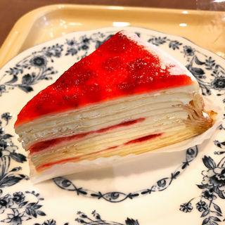 苺とマスカルポーネのミルクレープ(ドトールコーヒーショップ リエッタ綾瀬店 )