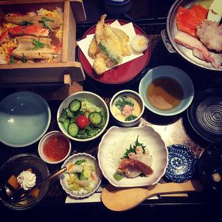 蒸し寿司ステーキ昼膳(かに徳 郡山本館 (かにとく))