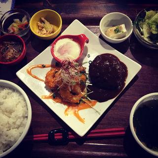 エビチリマヨ&焼メンチ(CAFEオヤジ )