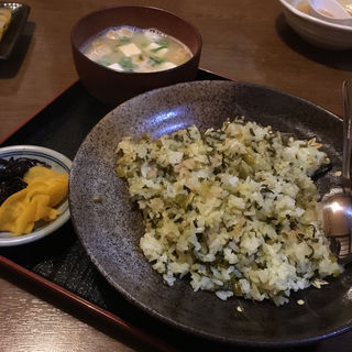 高菜めし(みそ汁付き)(汁べえ )