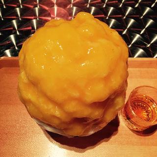 柿みるくとグランマルニエ(大人限定)(かき氷喫茶 バンパク )