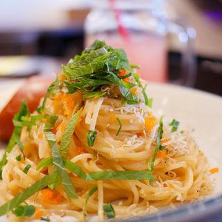 高菜と明太子とカリカリじゃこのパスタ(WIRED CAFE 川崎BE店 )