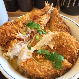 海老・ヒレ・メンチカツ丼(かつや 大阪泉佐野店 )