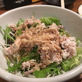 豚しゃぶサラダ(ウドンバー カイネ)