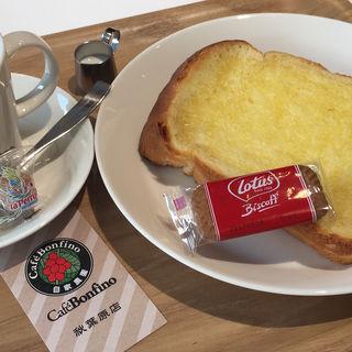 バタートーストセット(カフェ・ボンフィーノ 秋葉原店 (CAFE BONFINO))
