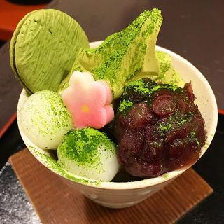 抹茶パフェ(錦 もちつき屋 (にしきもちつきや))