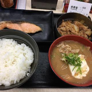 牛鮭定食(吉野家蔵前橋通鳥越店)