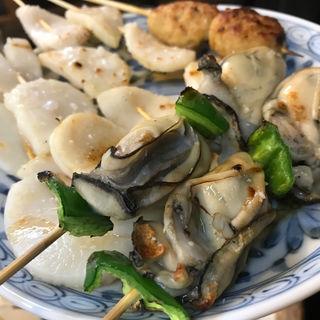 焼き鳥セット(ホタテ・牡蠣)(花山)