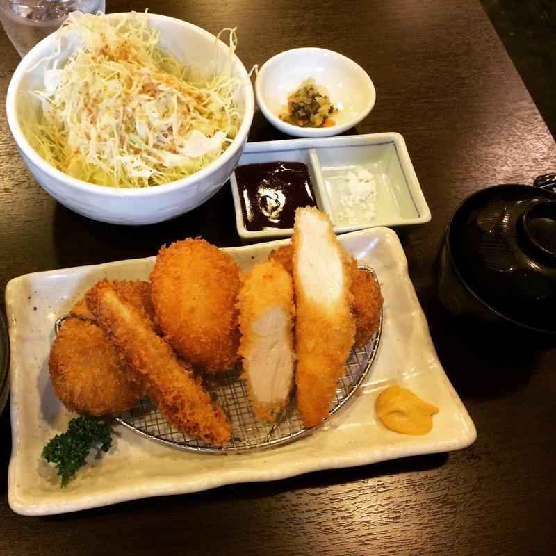 イマカツ膳(メンチカツ・ささみカツ・一口ヒレ・カニクリーム)