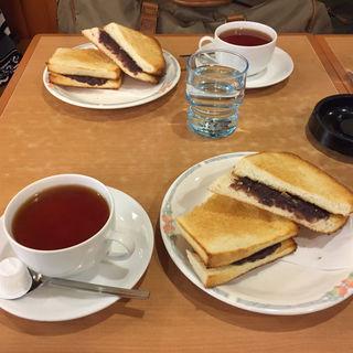 小倉トーストセット(大須ういろう むらやま)