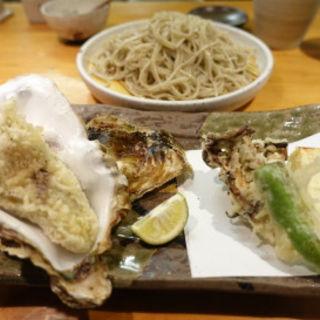 牡蠣天ざる(蕎楽亭 (きょうらくてい))