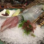 イカの活き造り(魚がし 活粋 (カッスイ))