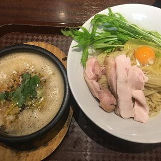 鶏すき焼き風つけ麺(麺のようじ (【旧店名】大阪拳))