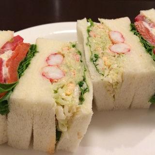 カニサラダ&サーモン(さえら)