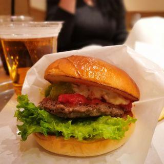 アボカドわさびバーガー(アルコール&ポテトセット)(the 3rd Burger 新宿大ガード店 (ザ サード バーガー))