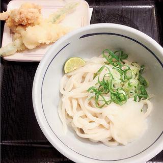 冷やし天ぷらおろし醤油(おにやんま 新橋店)