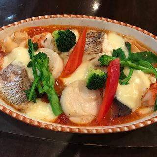 魚介と野菜のオーブン焼き(ステーキ&ワイン 神房 )
