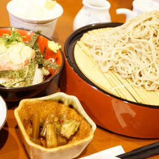 ネギトロ丼セット(平日限定お得メニュー)(そば処あんき )