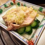 自家製特製ダレの蒸し鶏