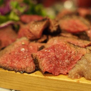 塊肉ステーキ ランプ(140円/10g)(オカズtoステーキ)