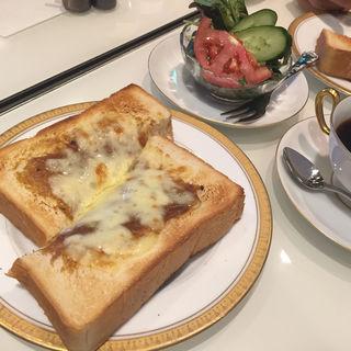 丸福カリートーストセット(丸福珈琲店 ヨドバシ「AKIBA」店 (まるふくこーひーてん))