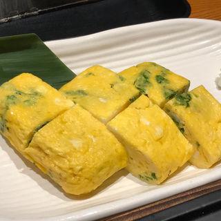 アオサの卵焼き(伊勢志摩 さかな屋道場 伊勢市駅前店)