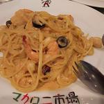 海老とホタテのクリームスパゲティ