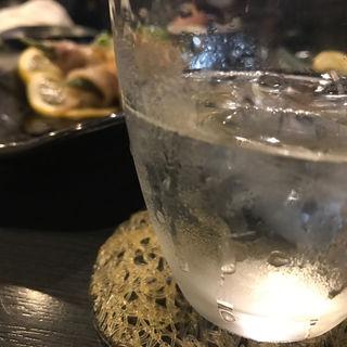 芋焼酎ロック(博多 王道坊主)