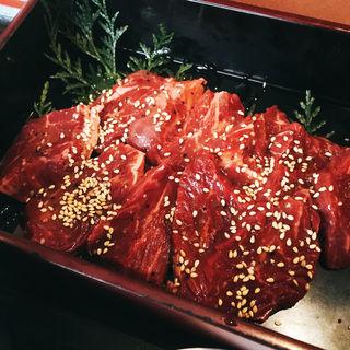 ダブル!!ハラミ定食◆どーんと200g(肉家焼肉ゑびす本廛 (エビスホンジン))