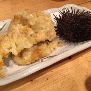 うにの天ぷら(ちょい呑み餃子 )