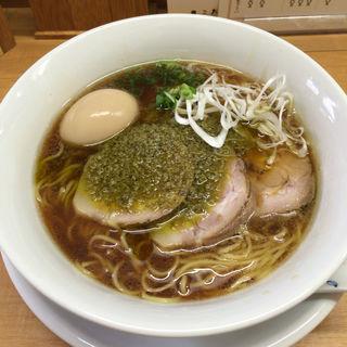 特製醤油そば〜牡蠣のアヒージョ添え(中華そば 大井町 和渦 )
