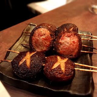 たぬき(椎茸の肉詰め)(炭火串焼 千串屋 六本木店 )