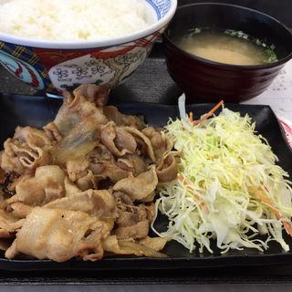豚生姜焼き定食(吉野家蔵前橋通鳥越店)
