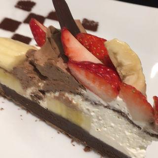 いちごとバナナのチョコタルト(カフェ・コムサ 池袋東武店 (Cafe comme ca))