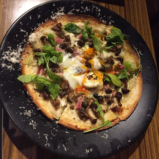 ええ卵とポルチーニ茸、ベーコンのビスマルク(京都 山小屋食堂 ガッリーナ (【旧店名】GALLINA rosa))