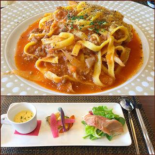ポルチーニと牛肉のラグーセット(RISTORANTE CARBONAIA ALBERGO 芦屋店)