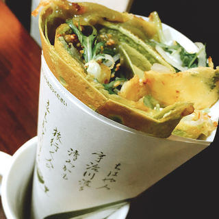 宇治の抹茶味噌クレープ(ちゃ~がんじゅ~cafe )