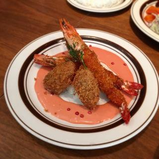 エビ牡蠣フライ(ライスorパンスープ付き)(キッチン大宮 グランフロント大阪店 (Kitchen Omiya))