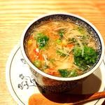 蛤と菜の花茶碗蒸し