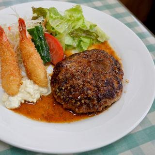 海老フライ&ハンバーグステーキ(明日香 (あすか))