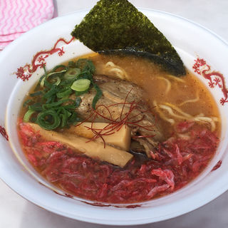 知床豚肉盛り濃厚えび味噌らーめん(in EZO 本店)