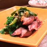 分葱・菜の花・蛍烏賊の酢味噌和え(馬場頭 ふろ (ババガシラフロ))