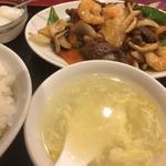 牛肉と海老と野菜のXO醬炒め