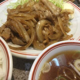 生姜焼き定食(ラーメン王 後楽本舗)