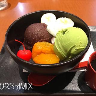 抹茶あんみつ(不二家レストラン アルカキット錦糸町店 )