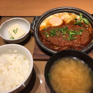 味噌かつ煮定食(やよい軒 中町店 )