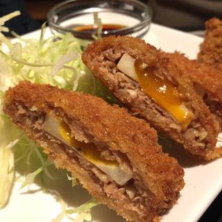 半熟卵入りメンチカツ(もつ福 赤坂店 (もつふく))