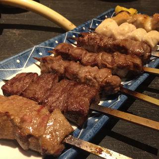 おまかせ串焼き盛合せ(もつ福 赤坂店 (もつふく))