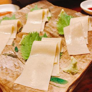 蕎麦刺し(芳とも庵 (よしともあん【旧店名】生粉打ち亭))